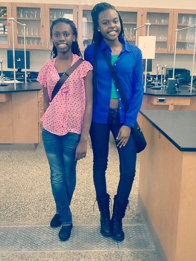 me & my bestfriend today in 4th block ... 1/17