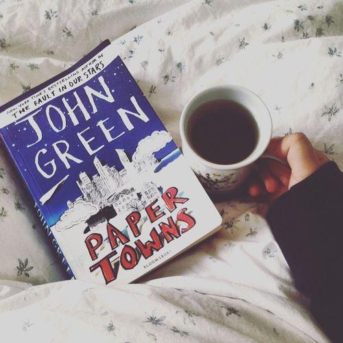 Tea Bed Blanket John Green Book Paper Towns John Green John Green Books Novel