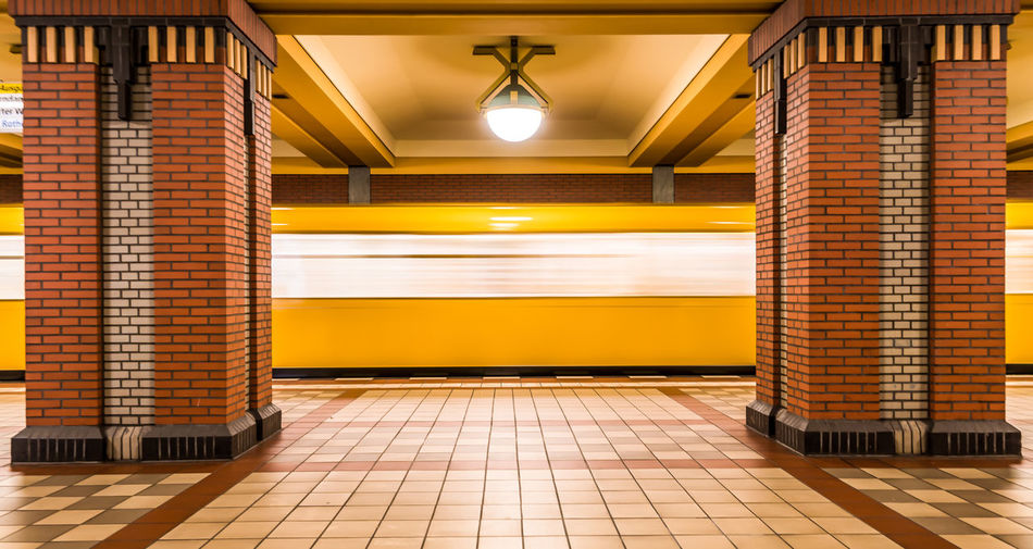 Paint The Town Yellow Public Transportation Krull&Krull Images U-Bahn U-Bahnhof Underground Station  Architecture Blurred Motion Built Structure Day Discover Berlin Electric Light Fast Illuminated Indoors  Motion No People Pillars Public Transport Speed Subway Station The Way Forward Train Yellow Yellow Color Business Stories Mobility In Mega Cities #FREIHEITBERLIN The Street Photographer - 2018 EyeEm Awards The Traveler - 2018 EyeEm Awards The Creative - 2018 EyeEm Awards The Architect - 2018 EyeEm Awards #urbanana: The Urban Playground Capture Tomorrow