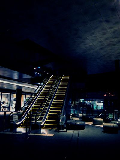 Nightphotography Steps Escalator Architecture Light Light And Shadow Tokyo Futakotamagawa Night Night Photography