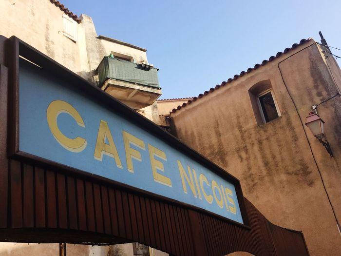 Café Nicois Architecture Building Exterior Built Structure Low Angle View Day No People Outdoors Blue City