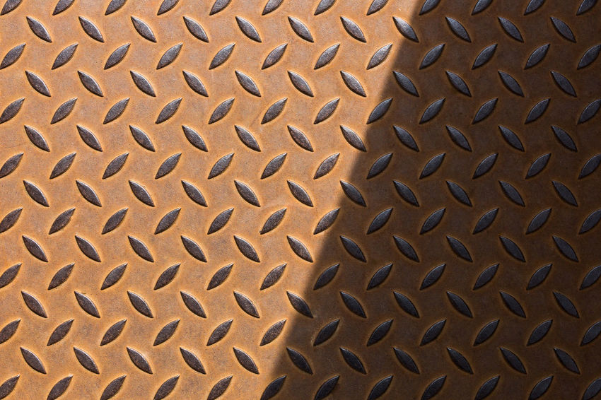 Abstract Backgrounds Brown Close Up Close-up Day Design Detail Floor Full Frame Geometric Shape Pattern Patterns & Textures Repetition Rusty Shadow Textured  Simplicity Minimalism Color Palette The City Light