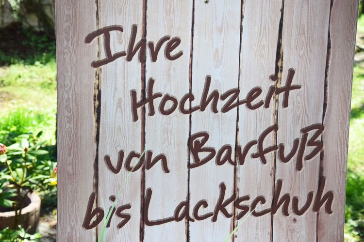 Traut Euch.... Text Communication Western Script Day No People Sign Information Focus On Foreground Close-up Message Wood - Material Information Sign Tree Trunk Trunk Outdoors Plant Tree Nature Script Emotion