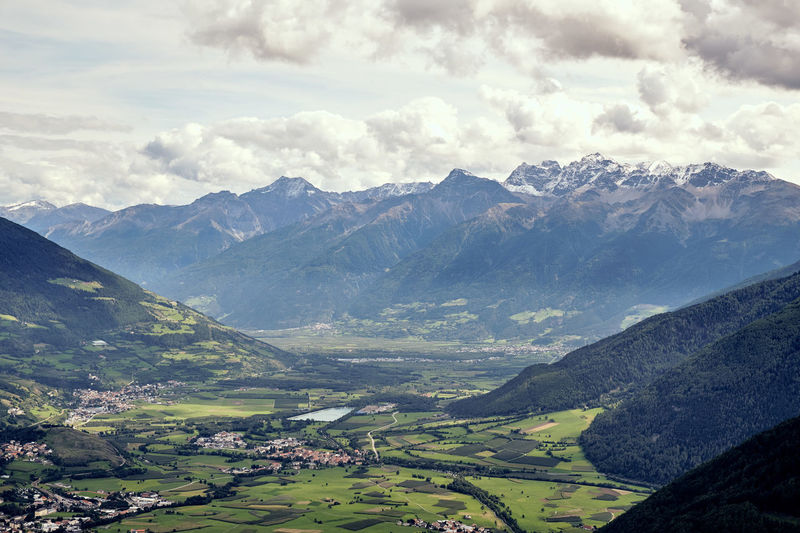 Südtirol Alps Beauty In Nature Cloud - Sky Day Environment Green Color Idyllic Land Landscape Mals Mountain Mountain Peak Mountain Range Nature No People Non-urban Scene Outdoors Range Scenics - Nature Sky Tranquil Scene Tranquility Travel Valley