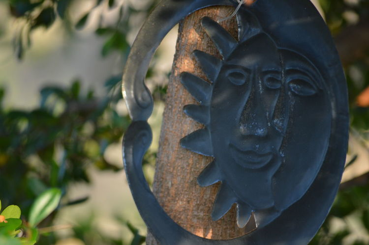 EyeEm Selects Statue Sculpture Close-up No People Outdoors Day Representing Sun And Moon Symbol No Edits No Filters Tree Tree Area Leaf Nature