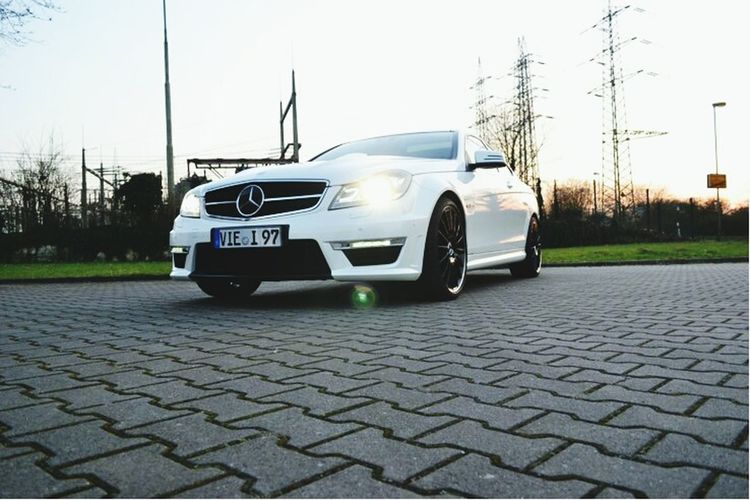 Mercedes Benz AMG C63 💕 Car Carshot Mercedes-Benz Mercedes Mercedes Amg AMG AMGC C63 AMG C63 Mercedes Benz Amg C63 Driving Day Outdoors White Sunset Photography Photooftheday CarOfTheDay Automotive Photography