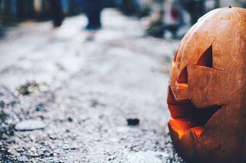 Halloween On Street