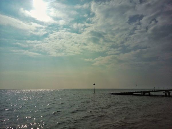 Lovely warm September day in Southend. Sea Horizon Over Water Water Beach Cloud - Sky Sky Scenics Outdoors Tranquility Beauty In Nature Nature Southend On Sea Seafront Views Southend Seafront