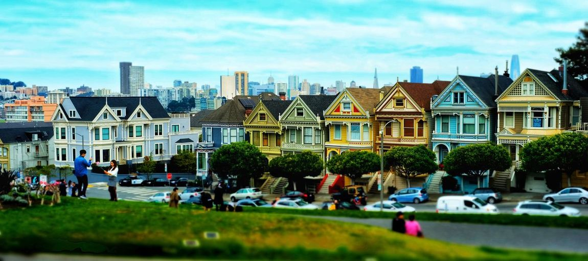 The Painted Ladies of San Francisco's LaFayette Sq #urbanlandscape #urbanscape Sky Building Motor Vehicle Cityscape