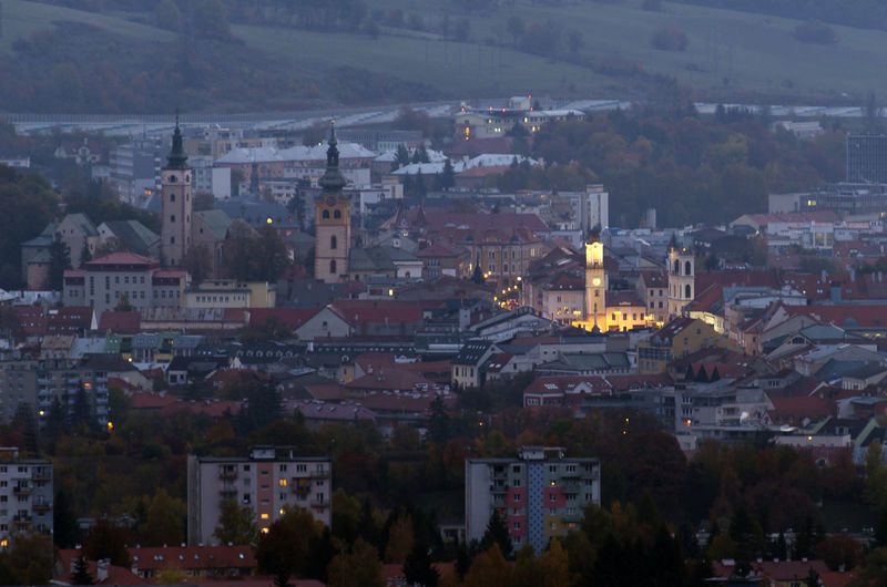 Slovakia Nature Outdoors Building Exterior Built Structure Architecture City Building Cityscape High Angle View Crowded Residential District Aerial View Religion Place Of Worship Spirituality Travel Destinations Illuminated Tree