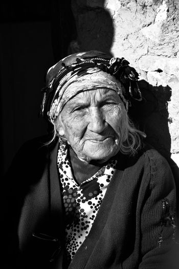 98 Years Old Front View Old Woman Person Portrait