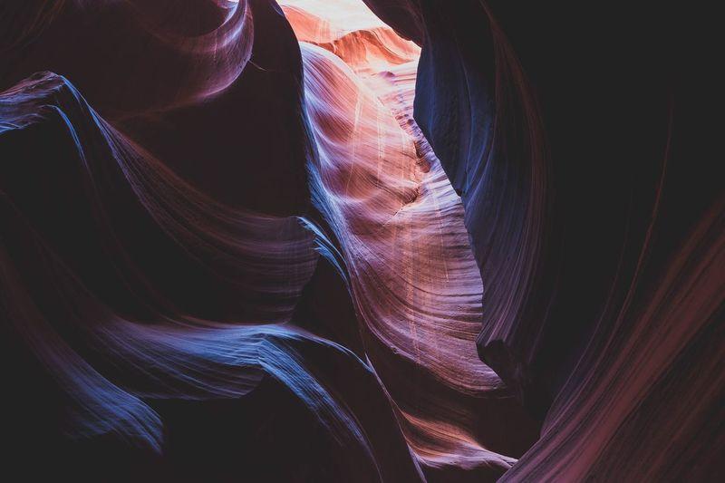 Macro shot of antelope canyon