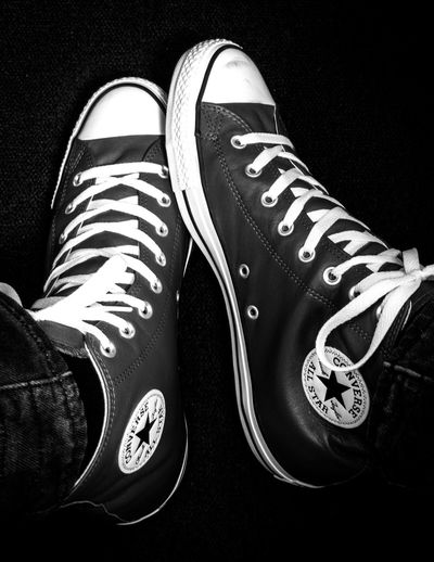 Shoe Shoelace IPhoneography Iphoneonly IPhone7Plus Eric Imbs Ericimbs Blackandwhite Black And White Shoes Converse Converse All Star