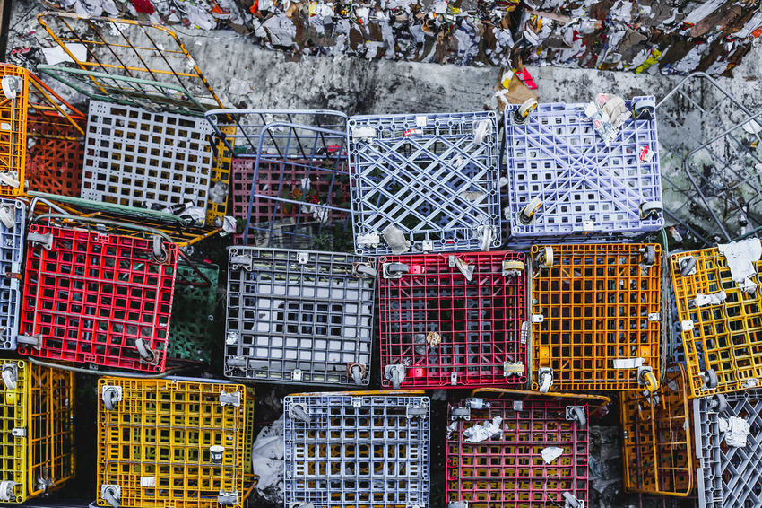 Abundance Architecture Arrangement Box Built Structure Cage Choice Container Crate Day Fishing Industry For Sale Large Group Of Objects Market Metal Multi Colored No People Outdoors Retail  Stack Variation