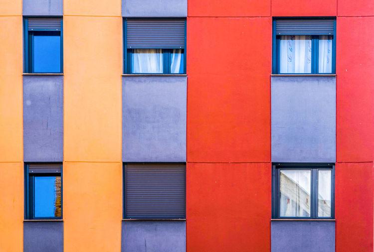 Full frame shot of building, lleida.