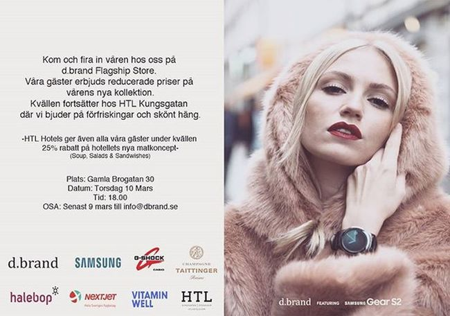 Fashion Event 10th of March, see you there Dbrand Samsungsverige Gshocknordic Halebop Tattingerchampagne Vitaminwellsverige Htlkungsgatan Nextjet