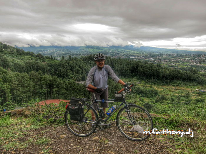 only in Indonesia ;-) Bicycles Clouds And Sky Nature Scenery
