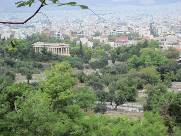 Architecture Architecture Athens Building Exterior Built Structure City Cityscape Day Green Green Color Green Color Growth Nature No People Outdoors Relaxing Residential Building Ruin Ruins Sky Tourism Tree Vacations Adapted To The City