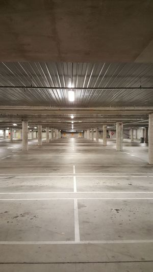 Architecture Parking Lot Built Structure Ceiling Empty Indoors  Parking Garage No People Architectural Column Day