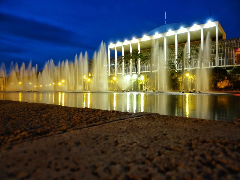 SonyHX400V Valencia Landscapes Valencia, Spain Long Exposure Water Reflections Water Palau De La Música Landscape_photography Fountain Fountains Nightphotography Rio Turia Parque