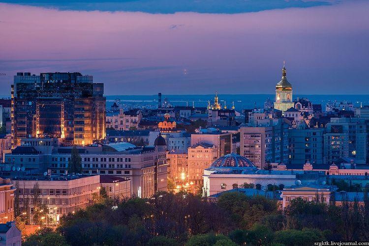 Kyiv, Ukraine, Night, Aerial, Spring, First Eyeem Photo
