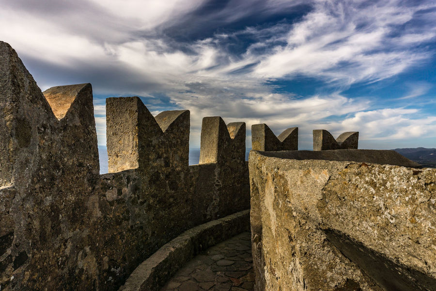 Castle Tuscany Wall Architecture Cloud - Sky Day Italy Low Angle View Nature No People Outdoors Ramparts Sky Fortified Wall Fort Fortress Stone Wall Surrounding Wall Lookout Tower Old Ruin Medieval