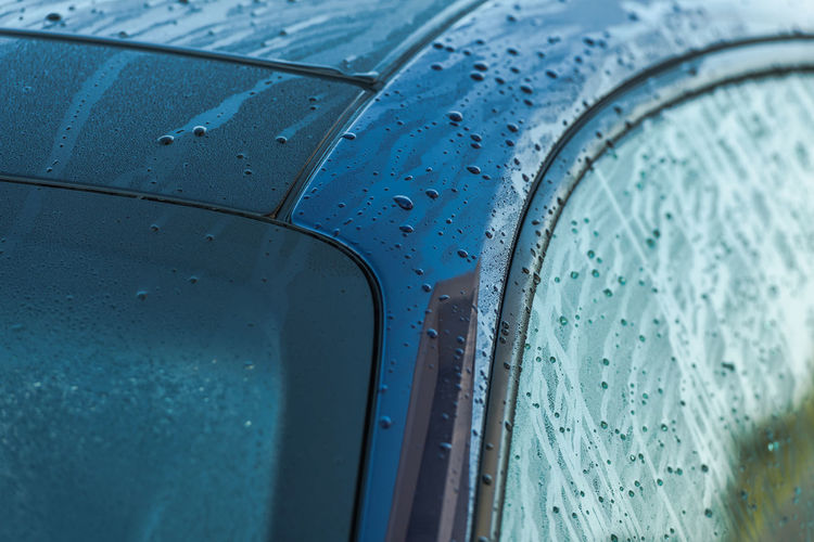 Full frame shot of wet car