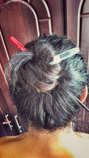 No hair tie, no problem. Flower Head Indoors  Snapseed Lenovo Vibe P1 Manbun Manbunlove