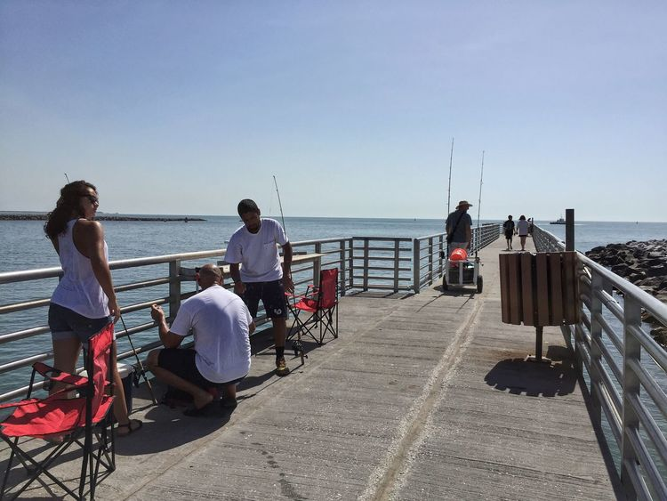 Fishing on the pier Jetty Park Port Canaveral Canaveral Florida Fishing Pier Fishing Time Fishing Spot