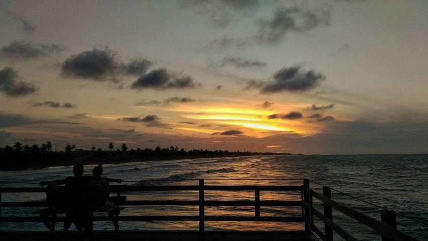 Sunset Sea Sea And Sky Beach
