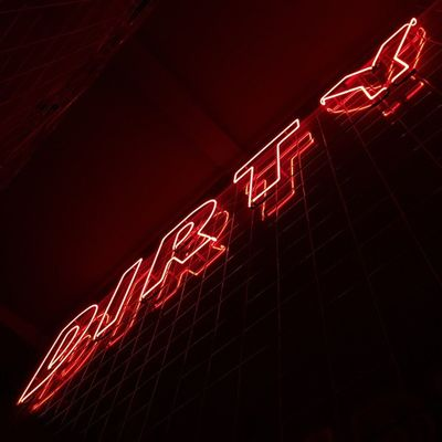 Dirty Lookingup Sign Signs Neon Neon Lights Neon Sign Red London