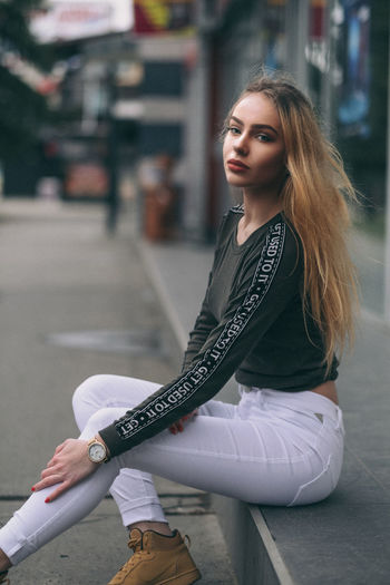Simona Lovely Fujifilm Slovakia Xpro2 Fujixseries Fujifilm_xseries Fujinon The Week on EyeEm One Person Street Young Adult Sitting Adult Lifestyles Real People Women People Beautiful Woman Portrait One Woman Only