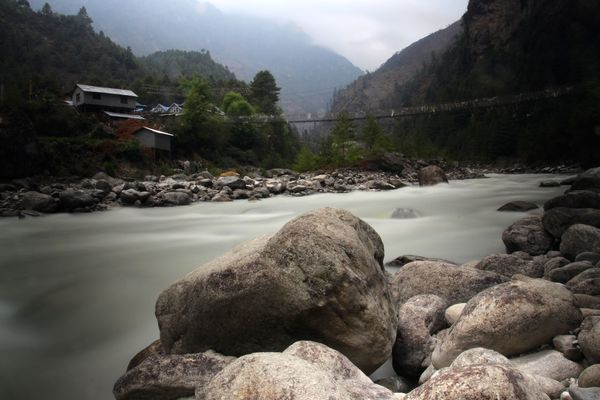 Trekking in Nepal Found On The Roll Tranquility Outdoors Nature Landscape Non-urban Scene Rural Scene Tranquil Scene Beauty In Nature Nepal Hiking Trekking Adventure River Himalayas