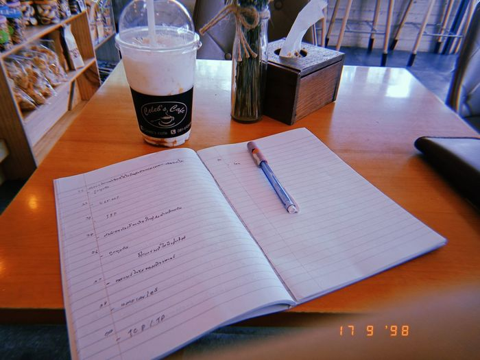 Paper Diary Writing Food And Drink