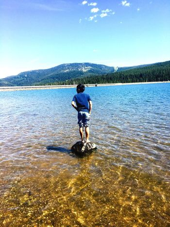Hyalite lake Adventure Cold Water Alone Time Rock Balance The Great Outdoors