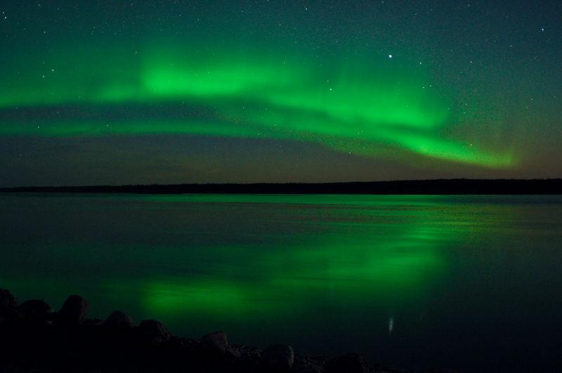 Aurora borealis above quebec