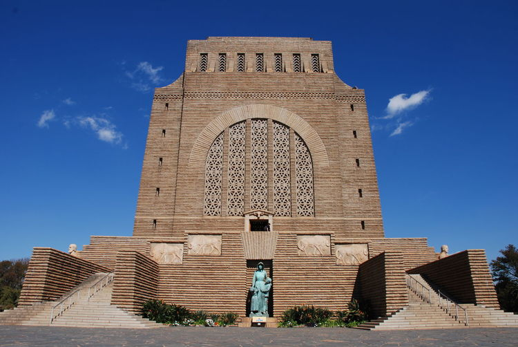 The impressive voortrekker monument on the outskirts of pretoria in south africa
