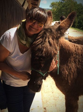 Gemma, my new friend Donkey Donkey Time Donkeylove One Animal Domestic Animals Mammal Livestock Adult Alpaca Friendship Affectionate Llama Pets Real People Day Outdoors Smiling One Person People One Man Only Men Vet