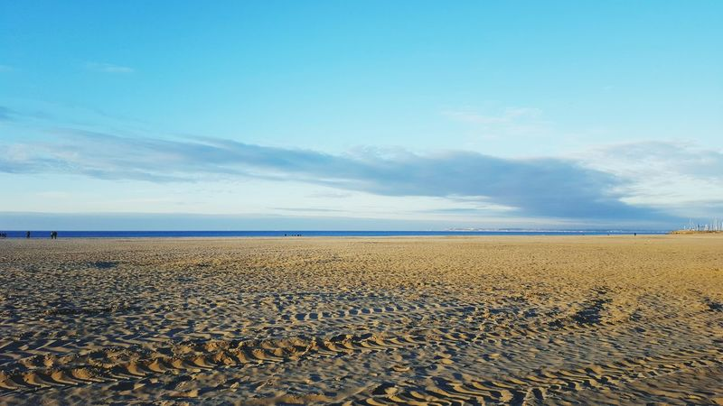 Sand Blue Sea Beach Sky Landscape No People Outdoors Horizon Over Water Nature Social Issues Scenics Beauty In Nature Water Day Nature Reserve Deauville Deauvillebeach