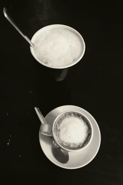 Coffee Time Cups And Mugs Black & White Coffe