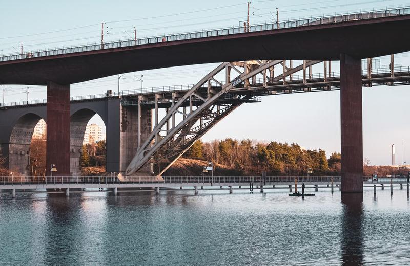 Årstabron, railroad bridge in stockholm, sweden