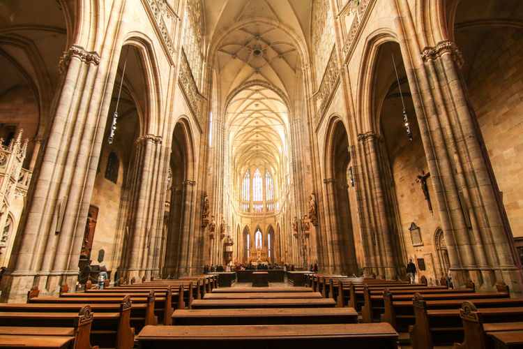 Altar Arch Architecture Day Indoors  No People Pew Place Of Worship Religion Spirituality Cathedral Stvituscathedral St Vitus Cathedral Church Prague Castle