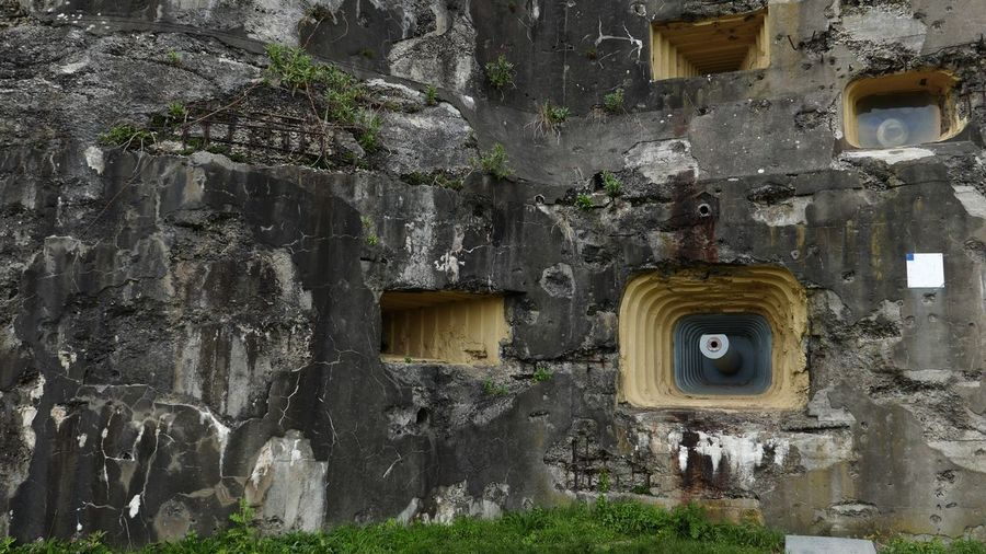 Fortress In Europe Historical Place Historical Site Ww2 Defences Old Fortress Fortification Concrete Building Architecture Built Structure Building Exterior Building Window No People Old Weathered The Past Abandoned History