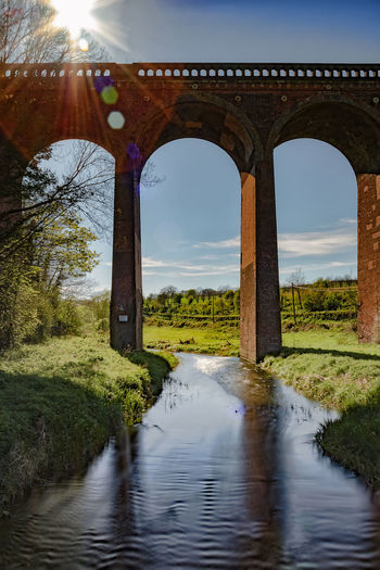 Eynsford Railway Viaduct Arch Architectural Column Architecture Beauty In Nature Bridge - Man Made Structure Built Structure Day Grass Growth History Nature No People Outdoors Railway Viaduct River Sky Sunlight Travel Destinations Tree Water