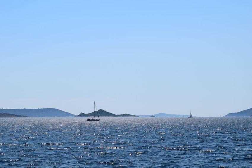 Adriatic Sea Beauty In Nature Blue Clear Sky Croatia Day EyeEmNewHere Islands Nature Nature Nautical Vessel No People Outdoors Sailboat Sailing Scenics Sea Sky Summertime Tranquil Scene Tranquility Transportation Water Waterfront Yacht