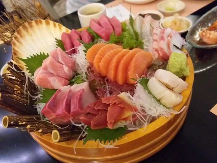 Sashimi  Sushi Plate Seafood SLICE Cultures Japanese Food Raw Food Close-up Food And Drink