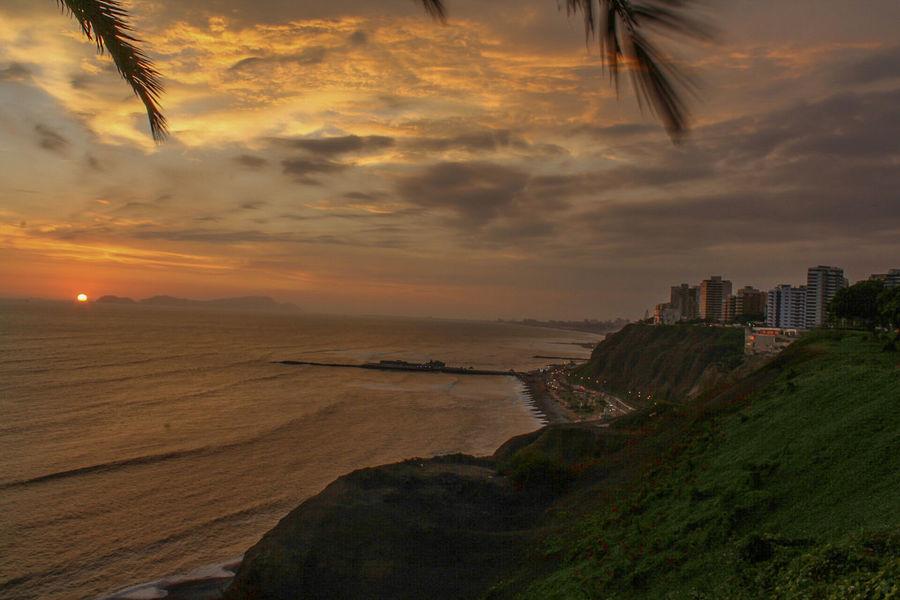 Sunset Beach Landscape Cloud - Sky Outdoors Sea Sky No People Lima-Perú Miraflores Lima