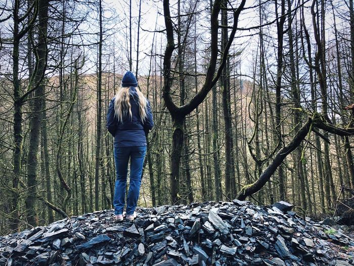 I brag about you to anyone outside, But I'm a man of the woods, it's my pride 🍂😍 Facing Away Women Uk Great Outdoors Outdoors Women Alone Wales UK Wales Woodlands Woods Go Higher
