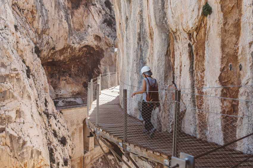 Caminito del Rey, Andalucia, Spain Adventure Andalucía Andalusia Bridge Bridge - Man Made Structure Caminito Caminito Del Rey Day Malaga Nature Outdoors Real People Stairs Stairway