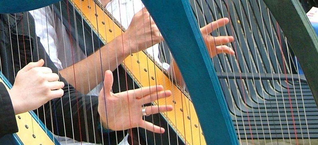 Hands Harp Harpist Celestial Caress TakeoverMusic